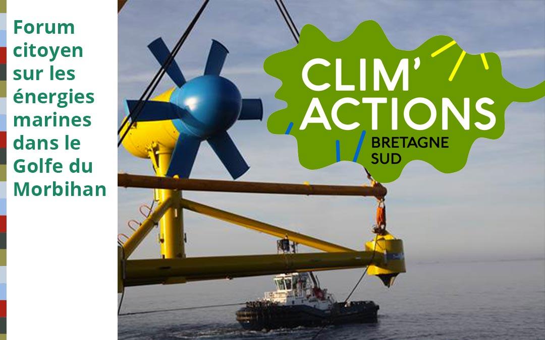 Forum Citoyen sur les Energies Marines Renouvenables dans le Golfe du Morbihan