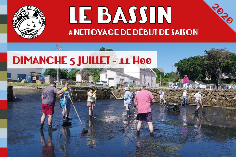 Le Bassin. Nettoyage de début de saison