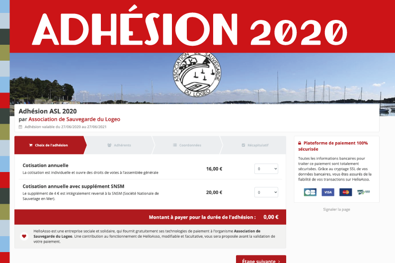 URGENT ! Adhésion 2020