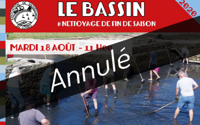 Le Bassin. Nettoyage de fin de saison