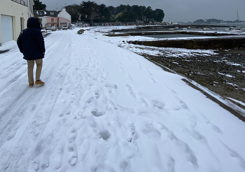 le logeo sous la neige