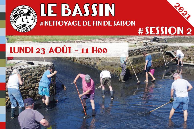 Le Bassin – Nettoyage de fin de saison