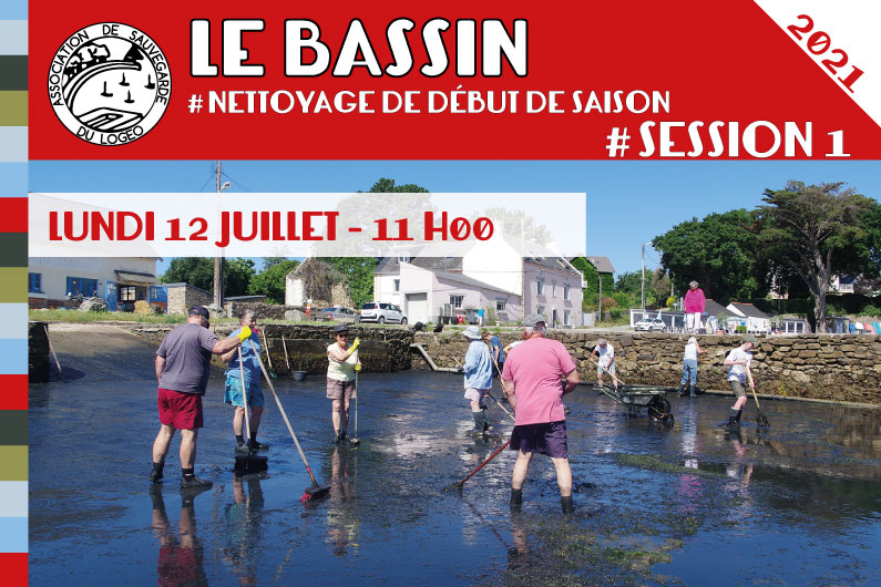 Le Bassin – Nettoyage de début de saison